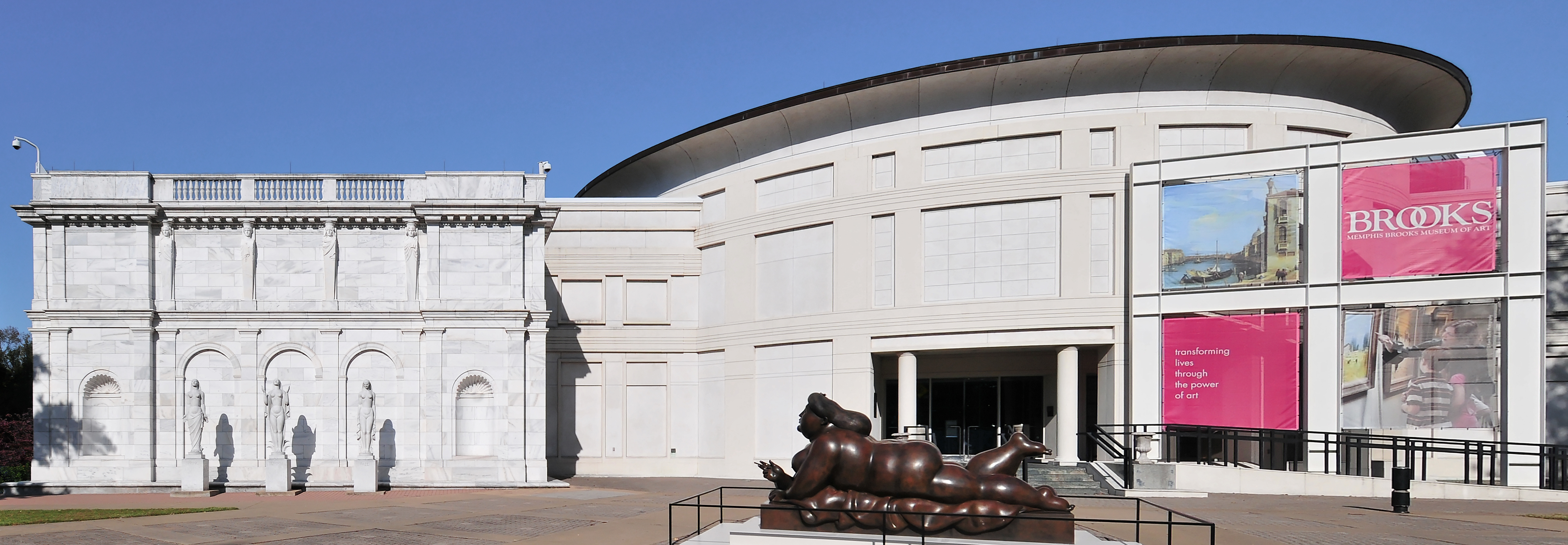 Photo of the exterior of the Brooks Museum of Art