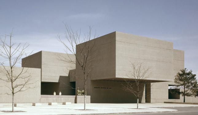 Exterior photo of the Everson Museum