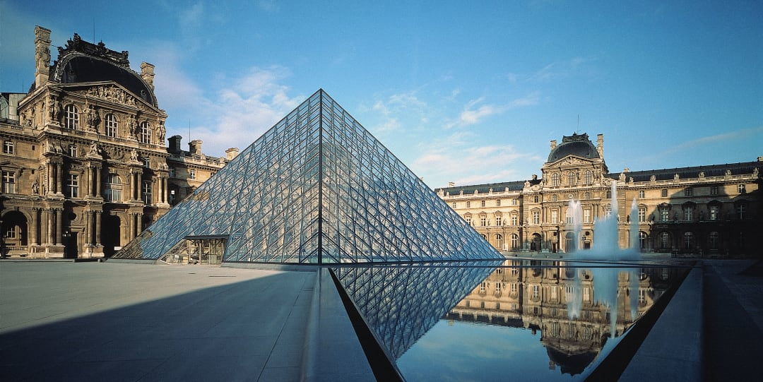 Photo of the pyramid addition to the Louvre