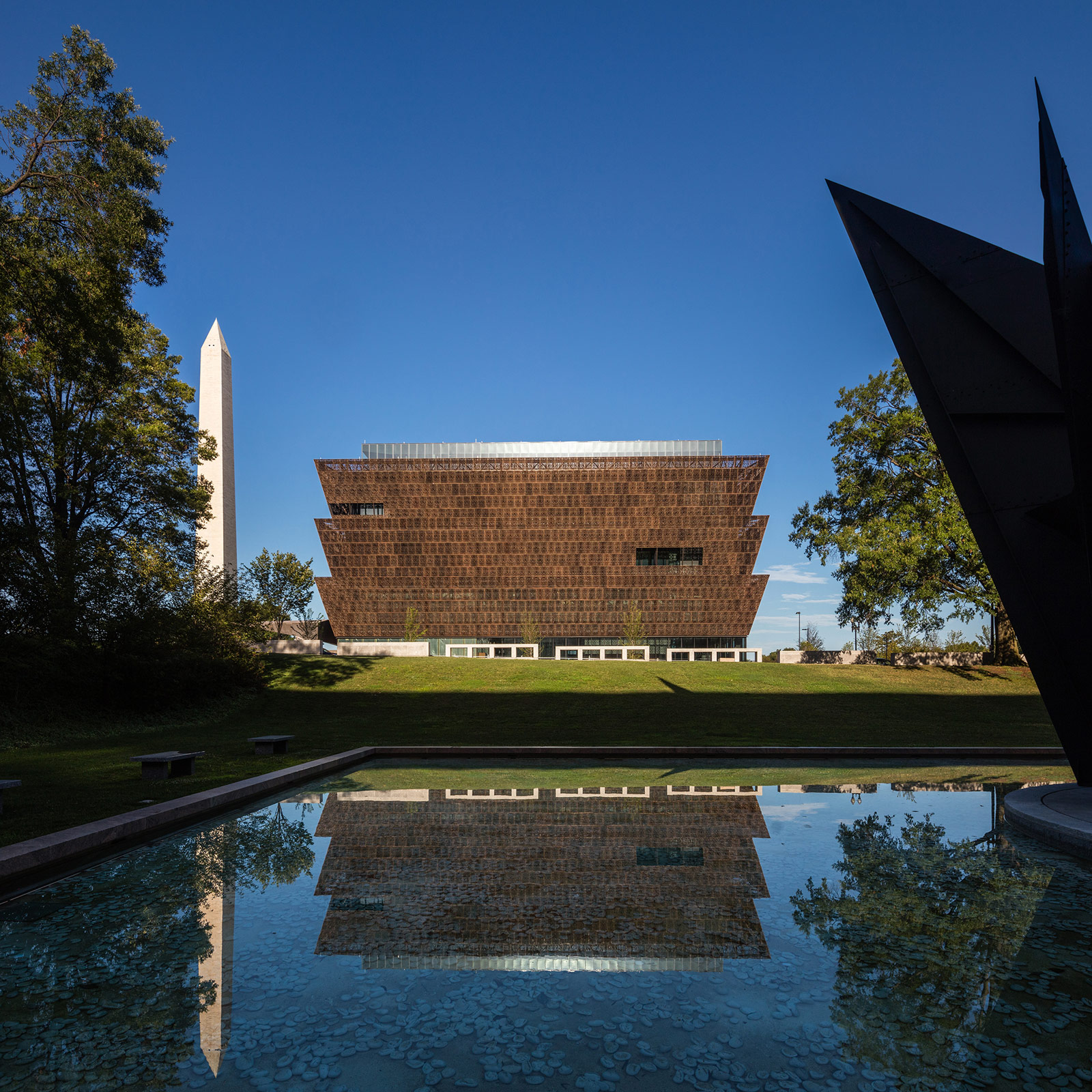 Photo of The National Museum of African American History and Culture on the National Mall