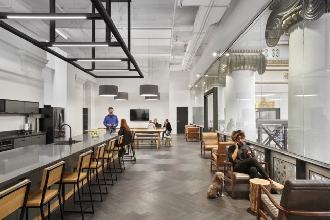 Photo of the interior of the Expensify Portland Office designed by ZGF Architects