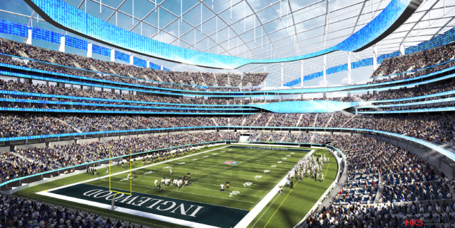 Rendering of a stadium interior