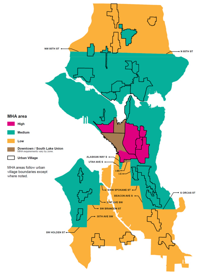 Diagram showing Seattle's 2019 zoning changes