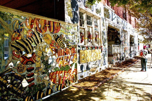 Photo of the exterior of the African Bead Museum