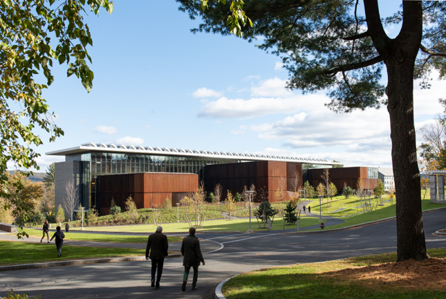 Exterior image of the New Science Center at Amherst, which will be presented at Facades+
