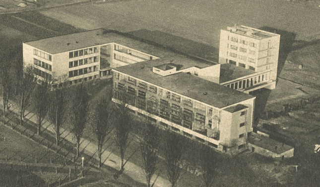 Aerial photo of a school