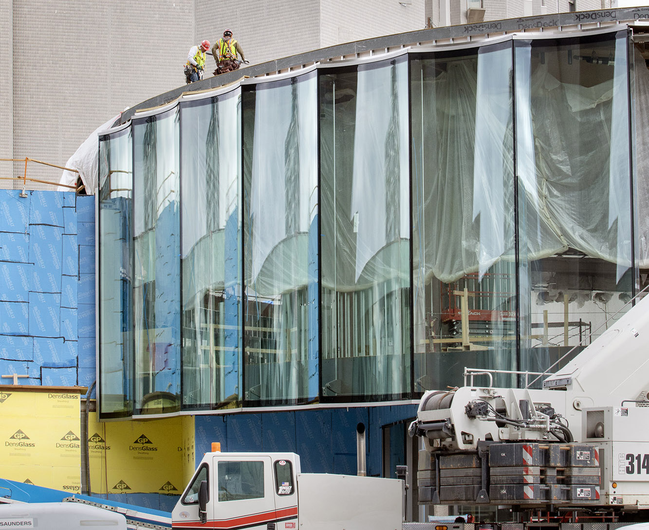 Construction image of the Denver Art Museum