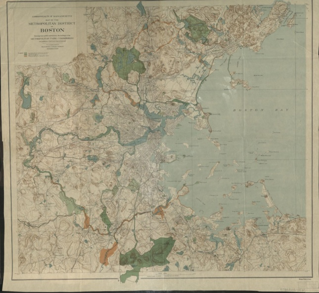 1898 map of Boston