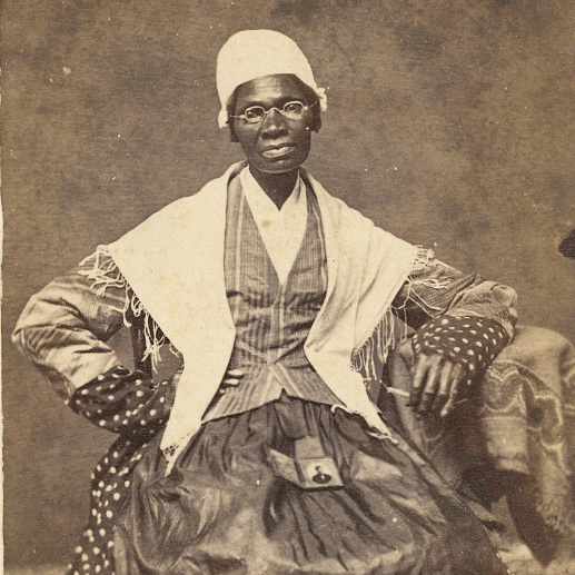 Old photo of Sojourner truth with grandson sitting on her lap