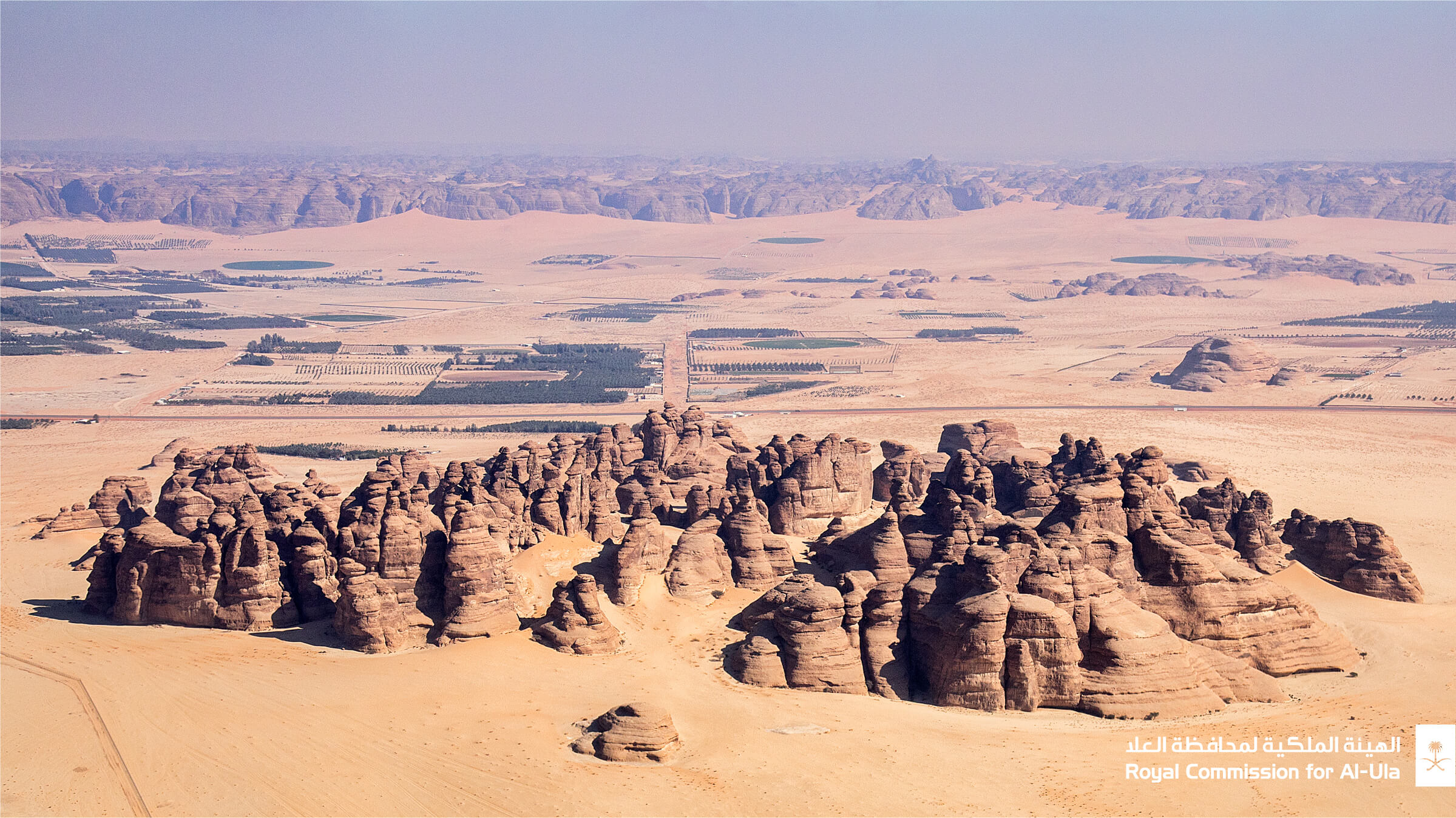 Rock formations in the historic al-Ula valley, Saudi Arabia, future home of a Jean Nouvel luxury resort