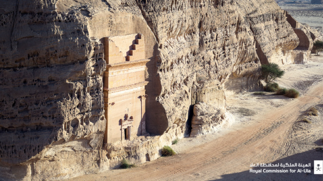 Ancient Nabatean tomb in the al-Ula valley