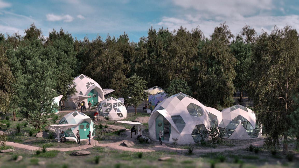 Geoship bioceramic domes are an environmentally friendly and proactive housing solution for a changing world