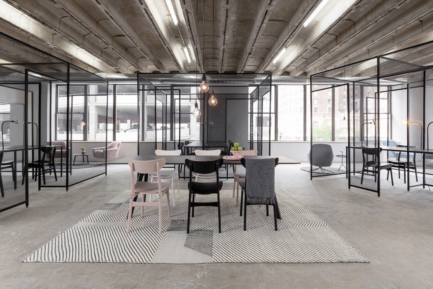 Interior of greyscale office designed by Architecture Office
