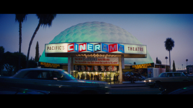 A dome-shaped movie theater