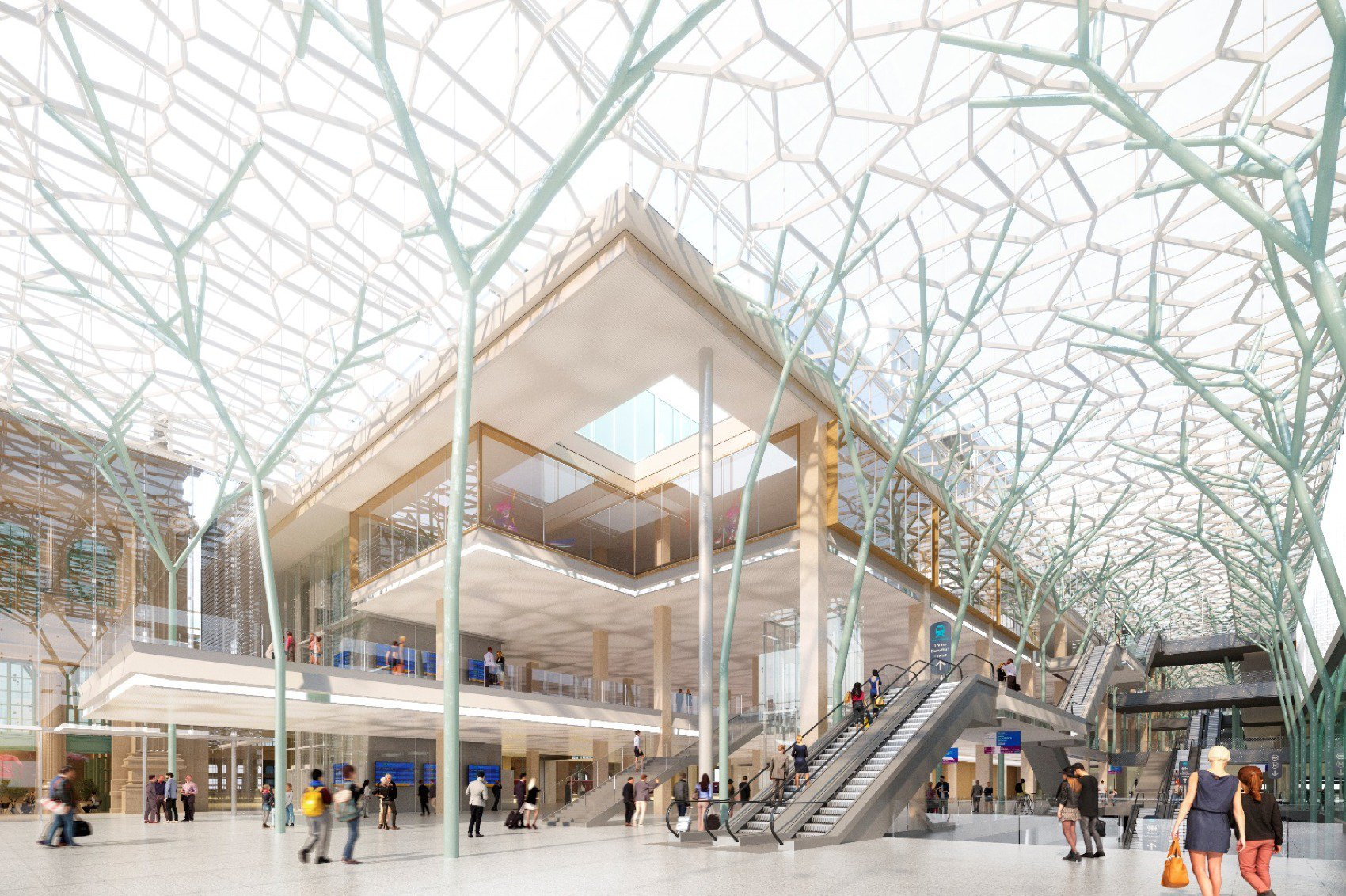 Gare du Nord rendering by SCNF
