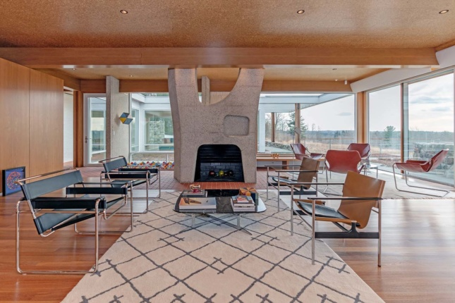 A house designed by Marcel Breuer in Litchfield, Connecticut.