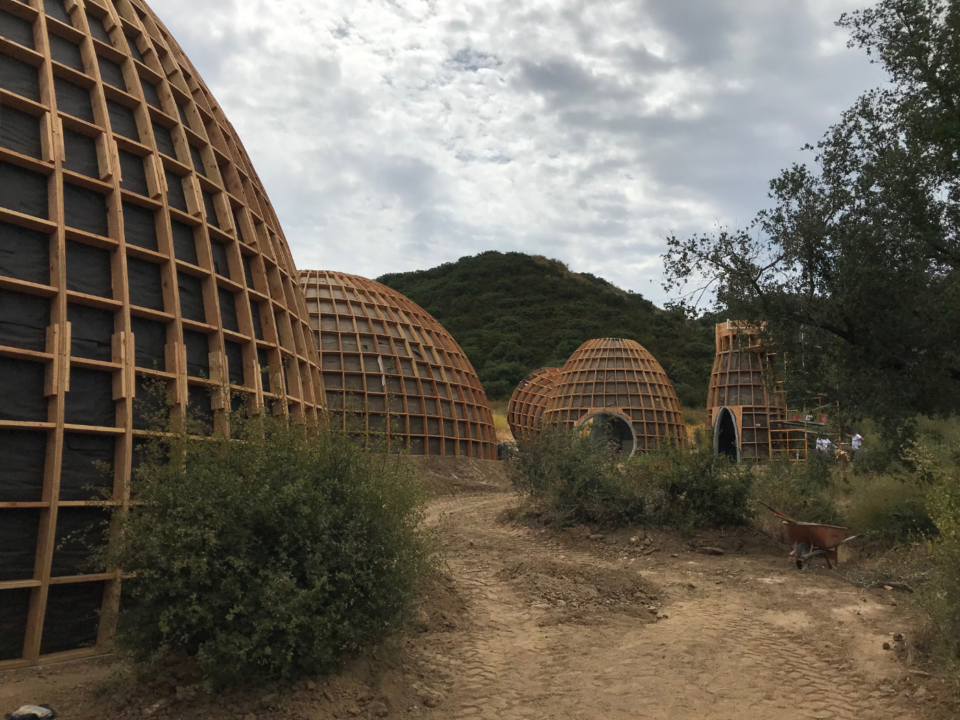 Photos of the Kanye West-designed wooden dome homes