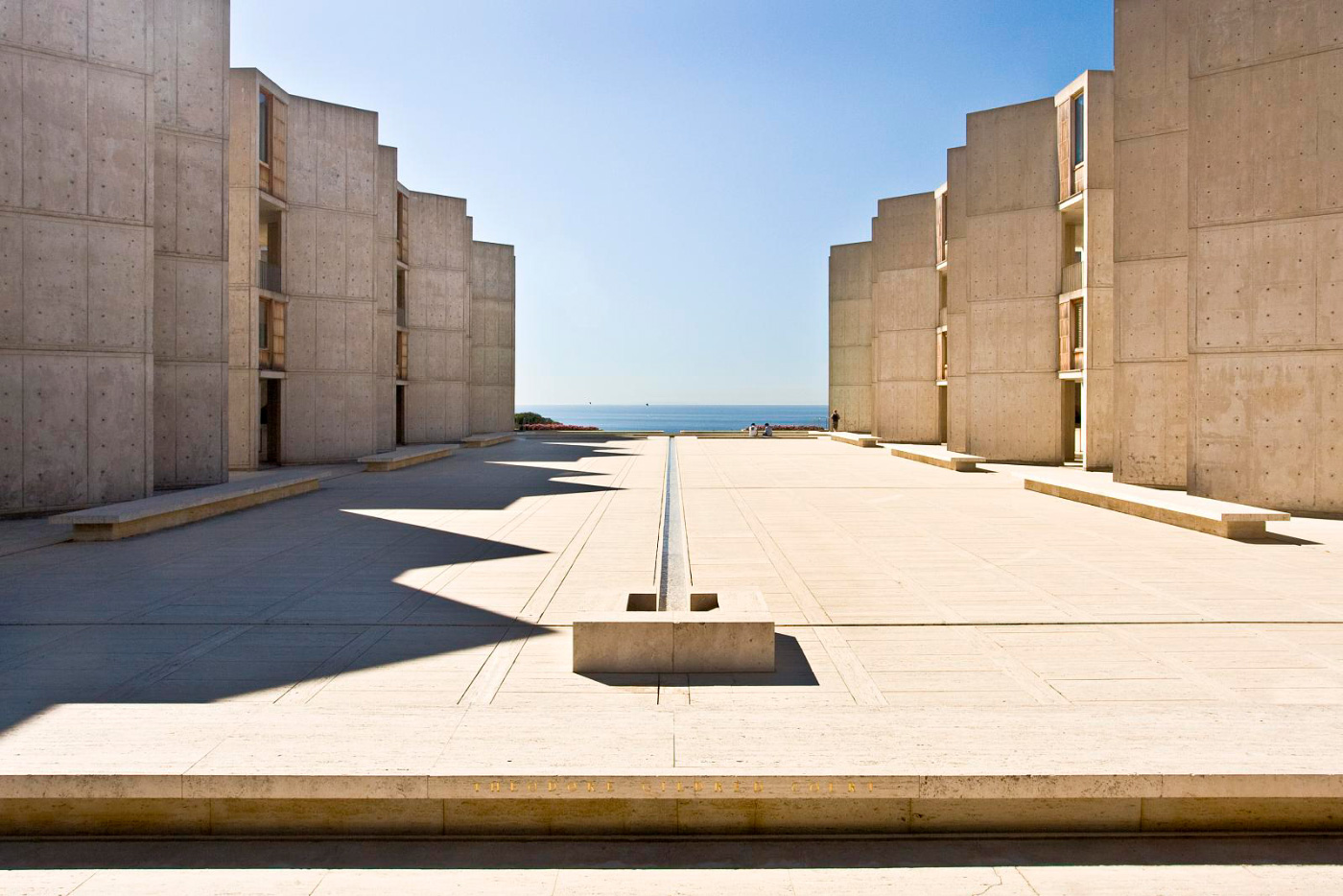 Photo of the Salk Institute's concrete plaza