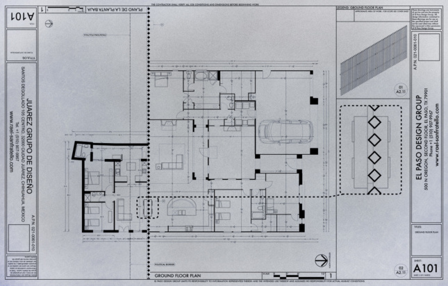 View of floor plan cut in half with a wall