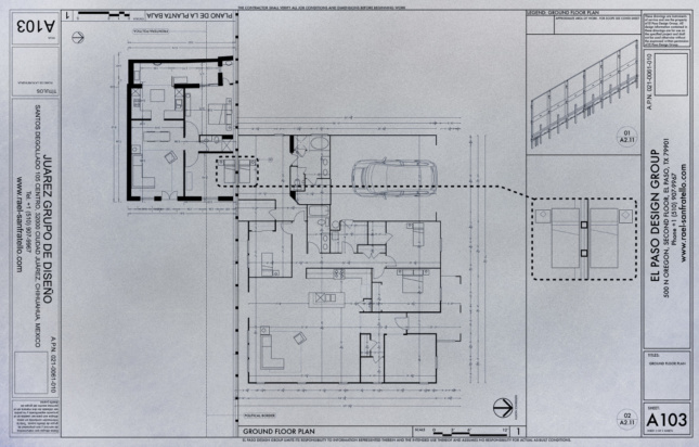 floor plan of a house with a wall running through the middle