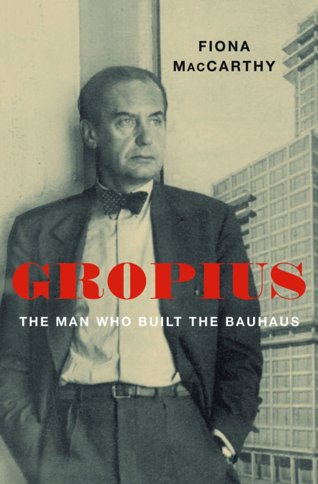 Cover of a man, Walter Gropius, leaning against a winner