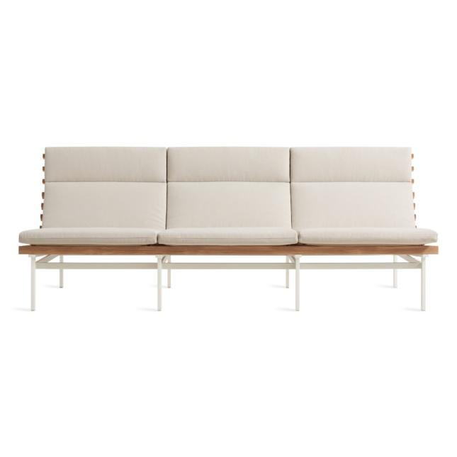An outdoor three-seat sofa