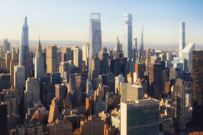 Rendering of suptertall architecture in new york city