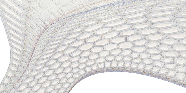 Parametric drawing of a cell pavilion