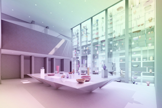 Rendering of the atrium of the Everson Museum of Art