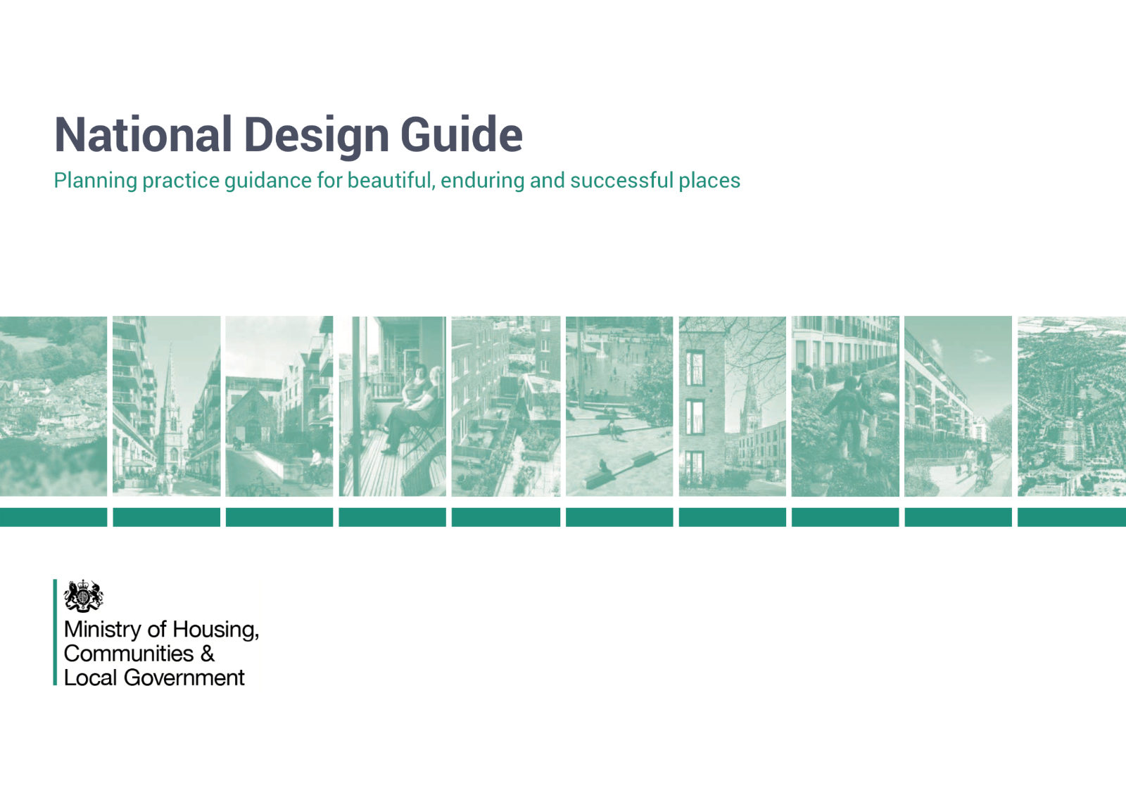 A slide that reads NATIONAL DESIGN GUIDE in green