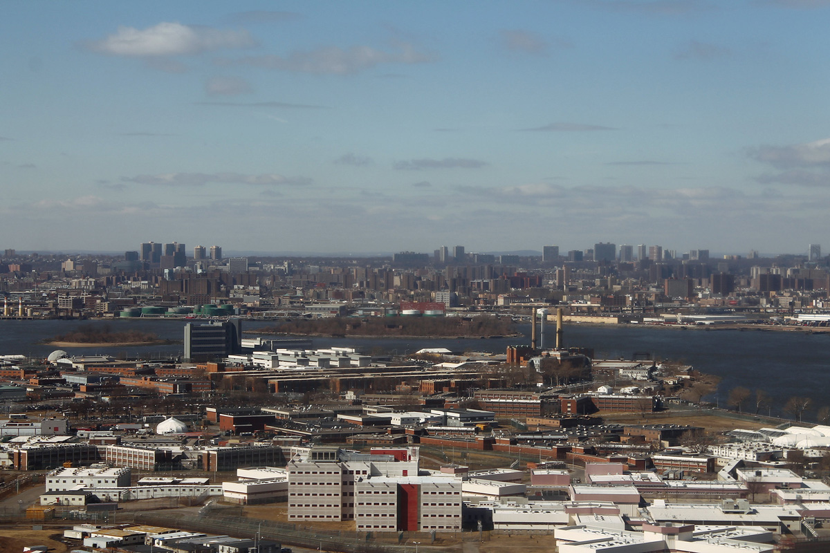 Rikers Island as seen from the air