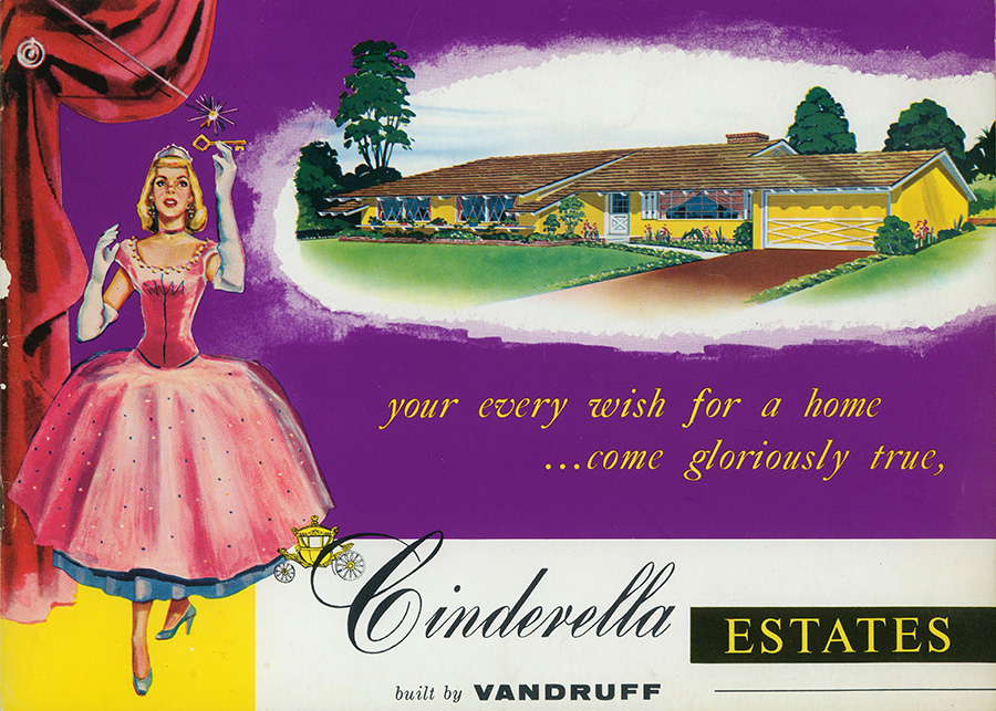 Cover of original Cinderella Homes brochure