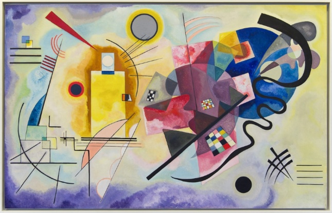 A colorful abstract painting by wassily kandinsky
