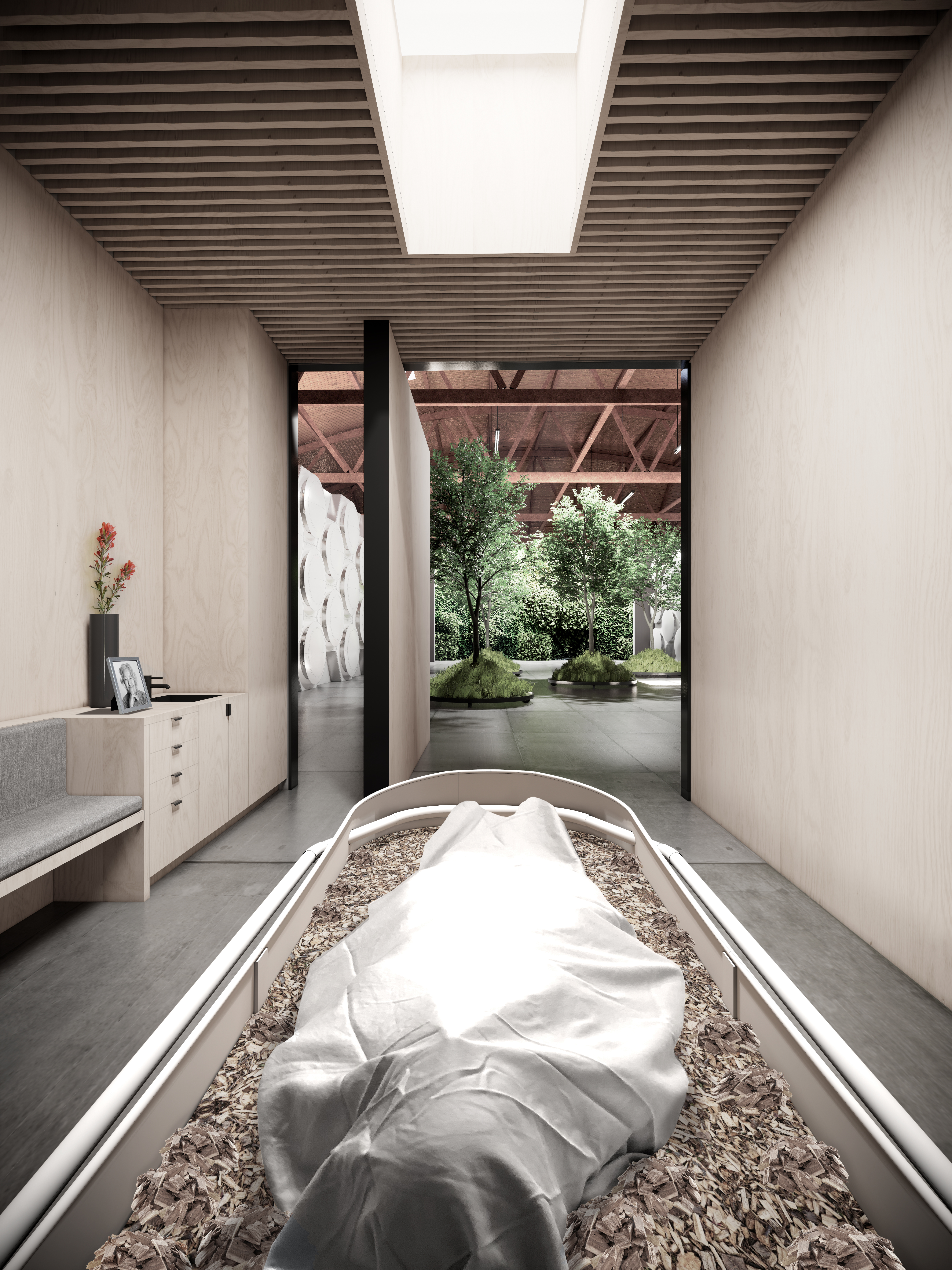 Olson Kundig Reveals World S First Human Composting Facility In Seattle