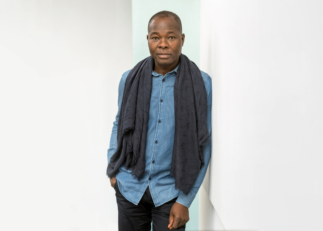 Photo of a man wearing a scarf