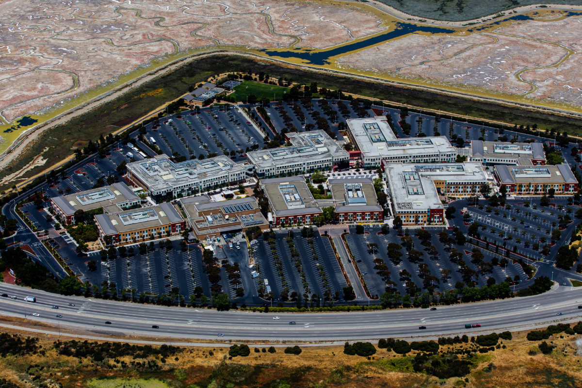 Aerial photo of office park