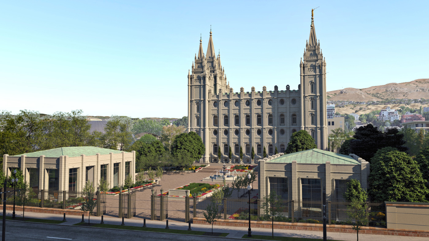 Rendering of a renovated Salt Lake Temple