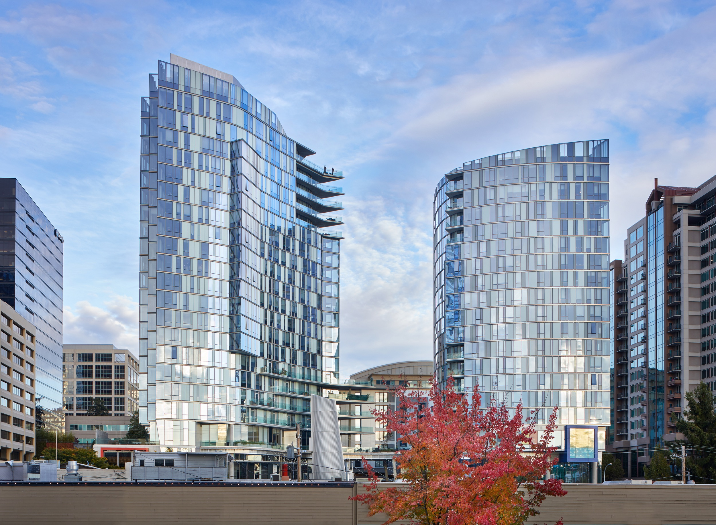 Image of Soma Towers facade in Bellevue