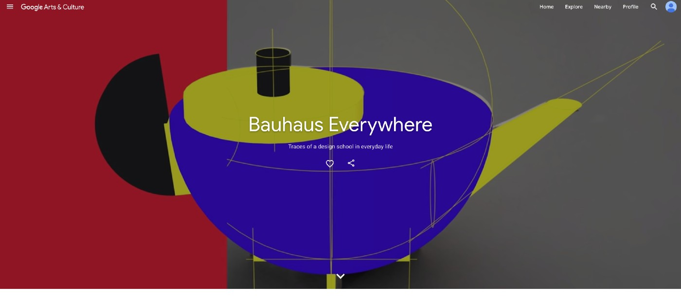 3D model of a teapot with the words Bauhaus Everywhere on top