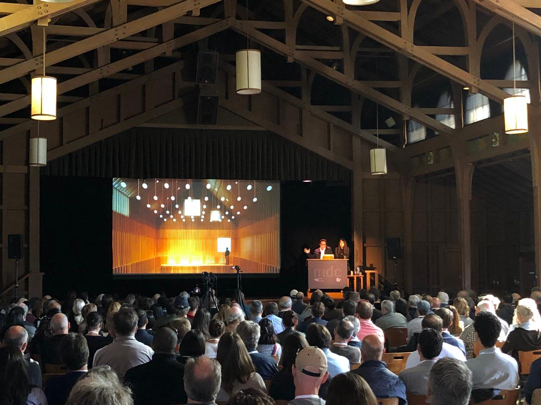 Attendees packed into a conference room at the Monterey Design Conference