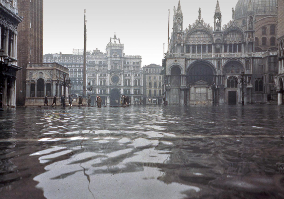 The Piazza San Marco underwater in Venice