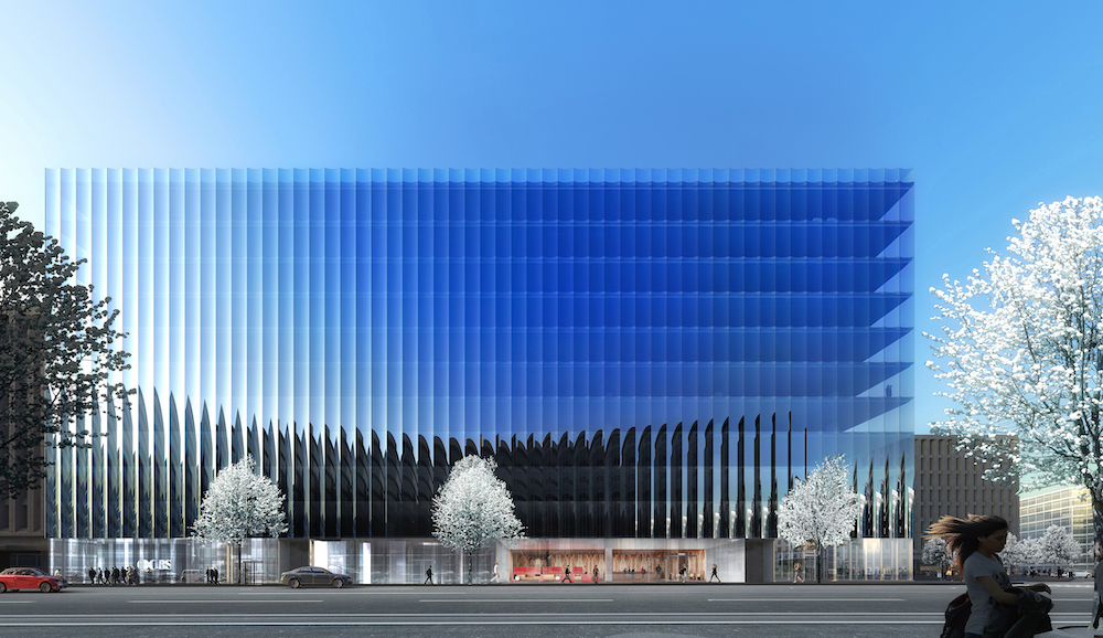 Rendering of the north facade of 2050 M Street