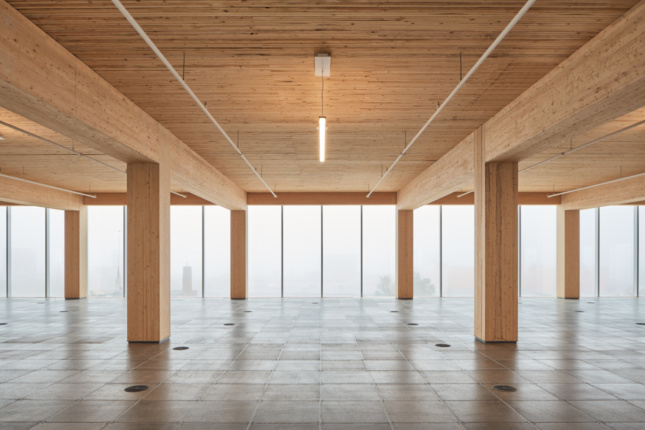 Photo of an empty office space