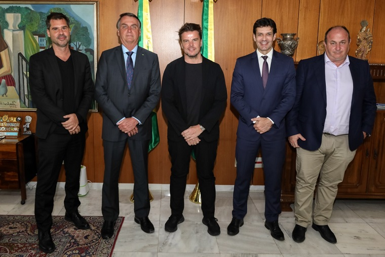 A group of men, including Jair Bolsonaro and Bjarke Ingels