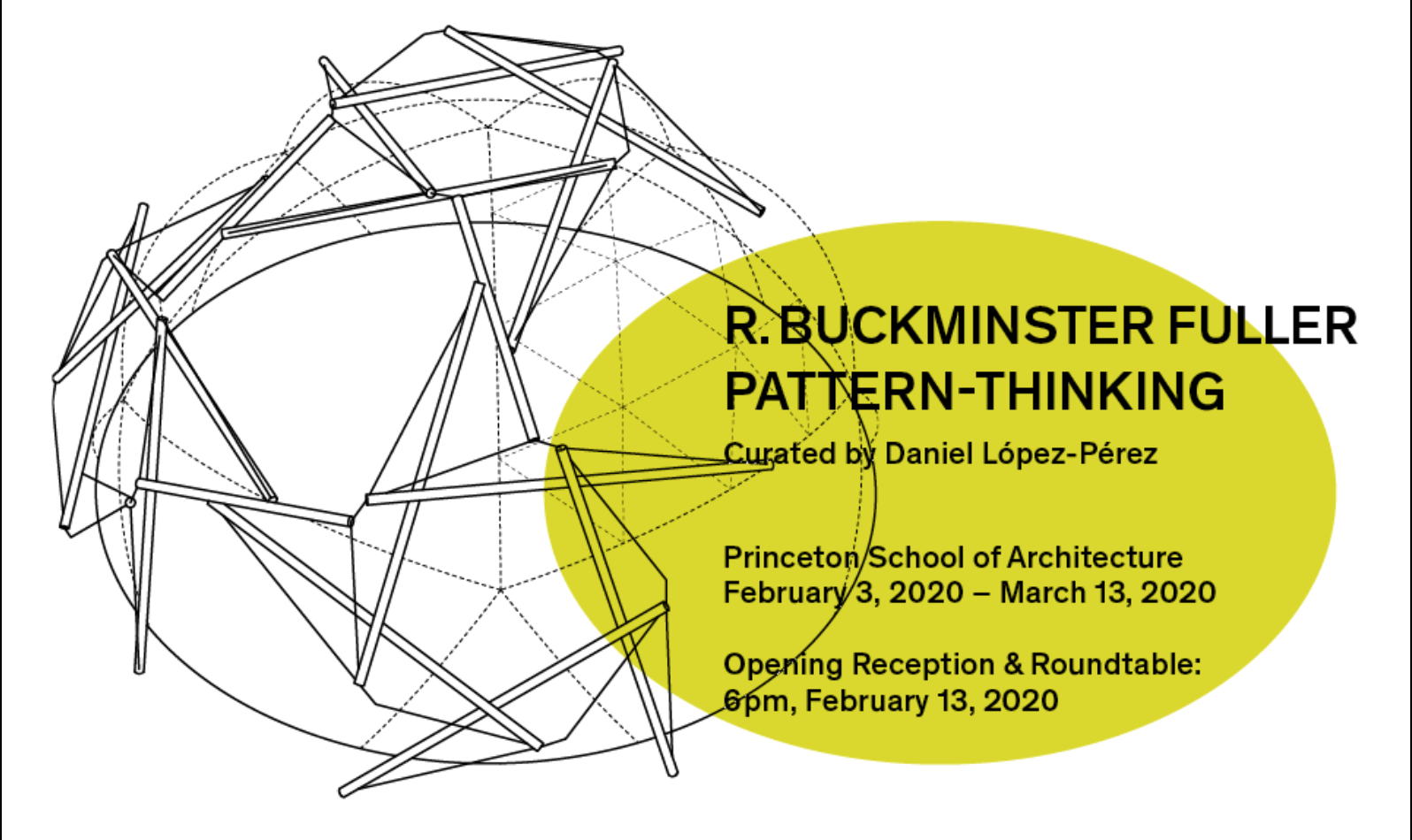 Graphic that reads R. Buckminster Fuller: Pattern-Thinking