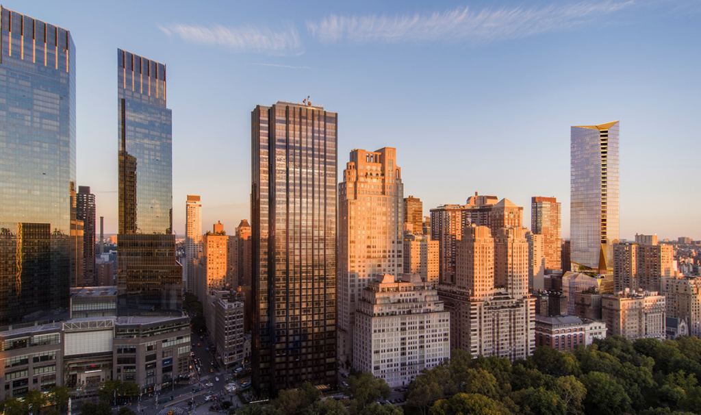 Rendering of Upper West Side with Snohetta-designed tower far right