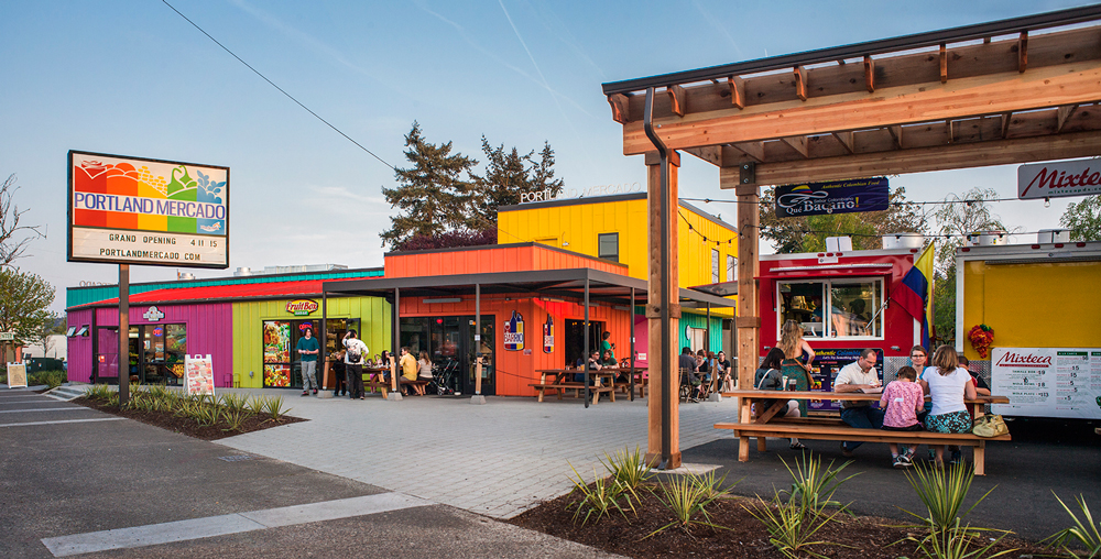 A colorful market in Oregon