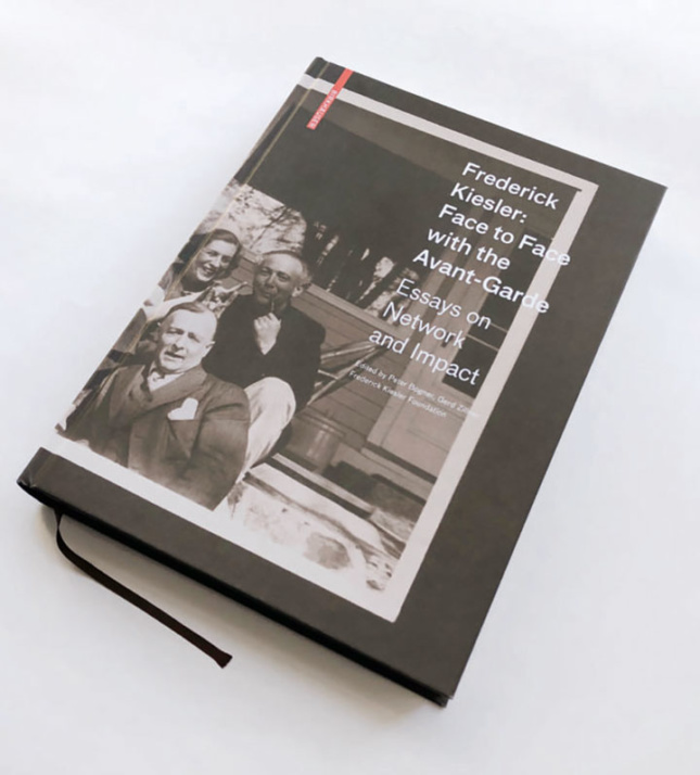 black and white photo cover art of Kiesler monograph book
