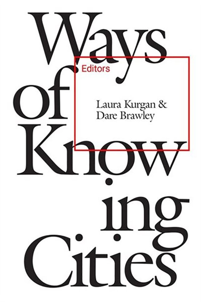 white cover of Ways of Knowing Cities book