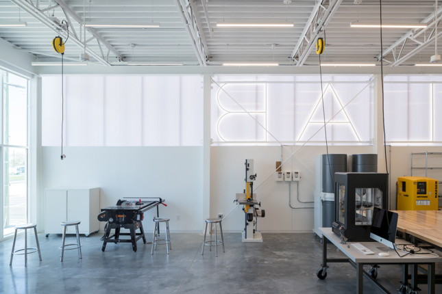 Interior of a fabrication space